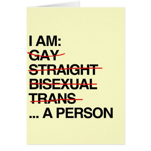 I AM A PERSON STATIONERY NOTE CARD