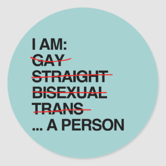 I AM A PERSON ROUND STICKERS