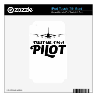 I am a Pilot Decals For iPod Touch 4G