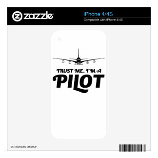 I am a Pilot iPhone 4 Decals