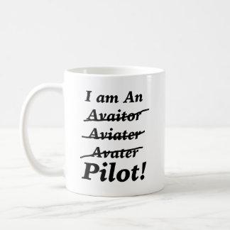 I am a Pilot Classic White Coffee Mug