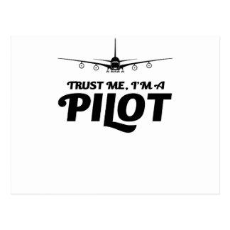 I am a Pilot Postcard