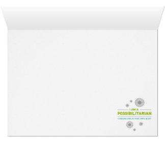 I am a Possibilitarian - Notecard Greeting Cards