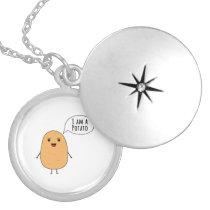 I am a potato locket necklace