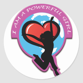 I Am A Powerful Girl Products Stickers