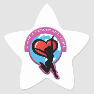 I Am A Powerful Girl Products Star Stickers