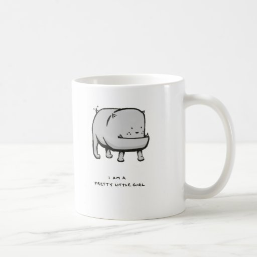 i am a pretty little girl classic white coffee mug