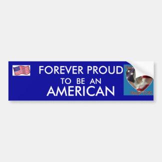 I AM A PROUD AMERICAN BUMPER STICKERS
