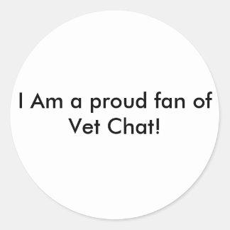 I Am a proud fan of Vet Chat! Sticker sheat