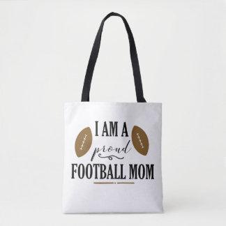 I am a Proud Football Mom Tote Bag