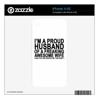 I am a proud husband of a freaking wife.png skin for iPhone 4S