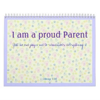 I am a proud Parent Calendar special year