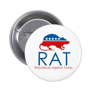 I am a R.A.T: Republican Against Trump Button