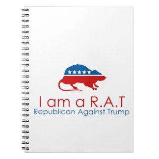 I am a R.A.T: Republican Against Trump Spiral Notebook