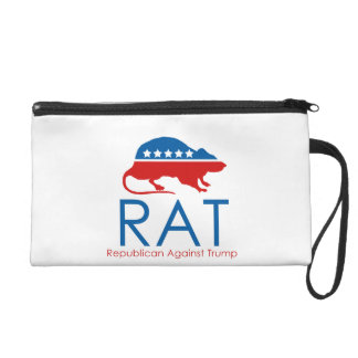 I am a R.A.T: Republican Against Trump Wristlet Purse