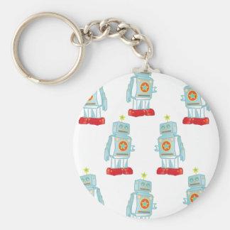 I am a robot army keychain