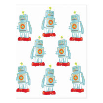 I am a robot army postcard