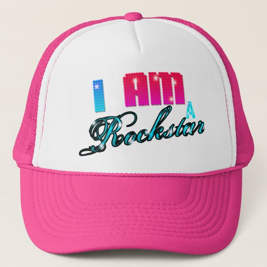 I AM A ROCKSTAR TRUCKER HAT  47f74a9f2c2