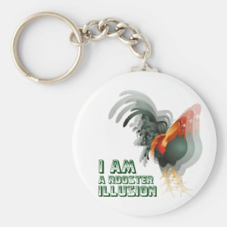 I Am A Rooster Illusion Basic Round Button Keychain