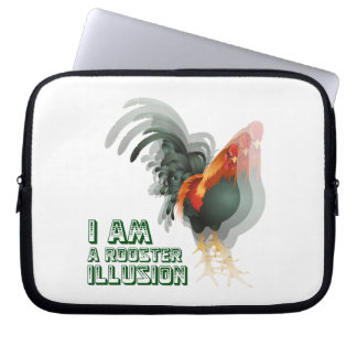 I Am A Rooster Illusion Computer Sleeves