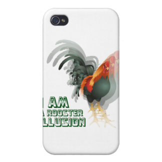 I Am A Rooster Illusion Covers For iPhone 4