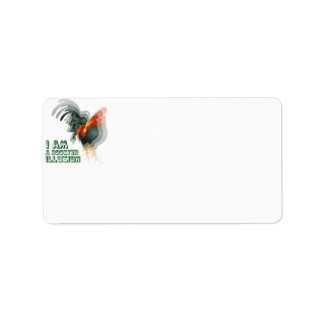 I Am A Rooster Illusion Custom Address Label