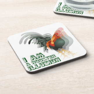 I Am A Rooster Illusion Drink Coaster