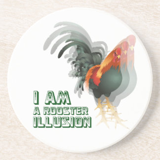 I Am A Rooster Illusion Drink Coasters