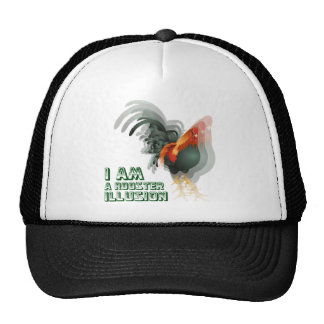 I Am A Rooster Illusion Trucker Hat