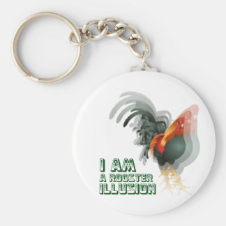 I Am A Rooster Illusion Keychain