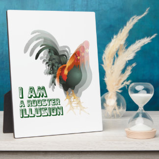 I Am A Rooster Illusion Photo Plaques