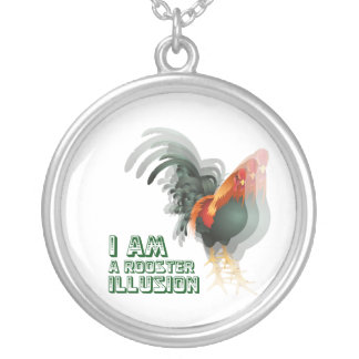 I Am A Rooster Illusion Round Pendant Necklace