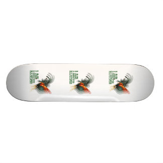 I Am A Rooster Illusion Skate Board Deck