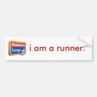 i am a runner bumper sticker