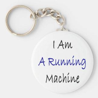 I Am A Running Machine Keychains