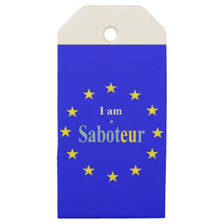 I Am a Saboteur Wooden Gift Tags