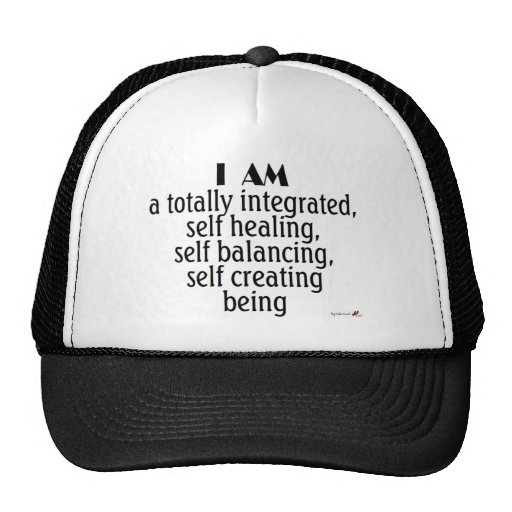 I am a...self creating being mesh hat