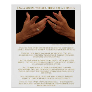 I Am A Social Worker, These Are My Hands-Poster Poster