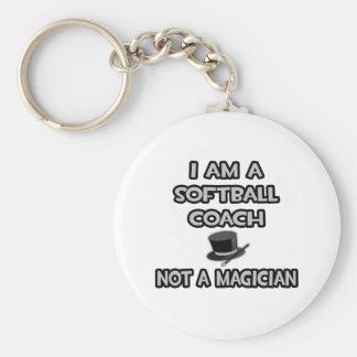 I Am A Softball Coach ... Not A Magician Keychains