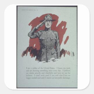 I_am_a_soldier_of_the_United_Propaganda Poster Square Sticker