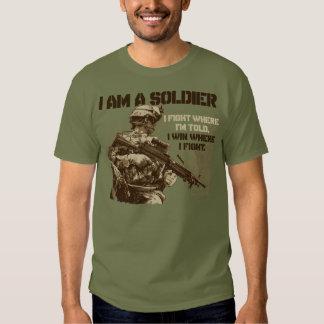 I Am A Soldier on Men's Fatigue Green T-Shirt