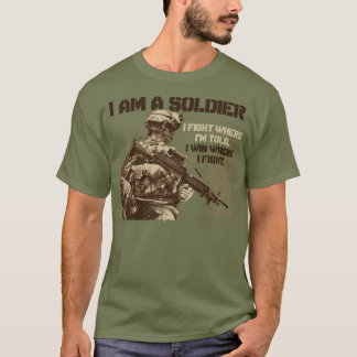 I Am A Soldier on Men's Fatigue Green T-Shirt