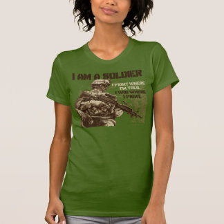I Am A Soldier on Women's Olive T-Shirt