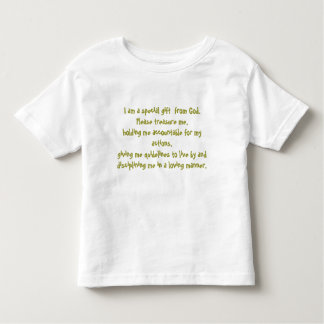 I am a special gift  from God - To... - Customized T Shirt