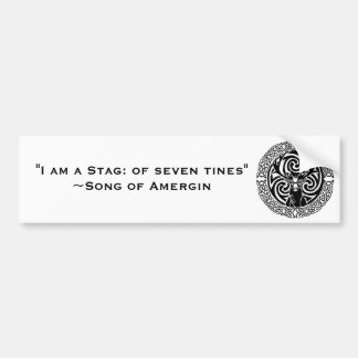 I am a Stag: Jet Bumper Sticker