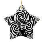 I am a Stag: Jet Ceramic Ornament