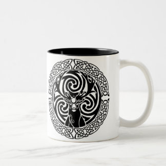 I am a Stag: of seven tines | Jet Two-Tone Coffee Mug