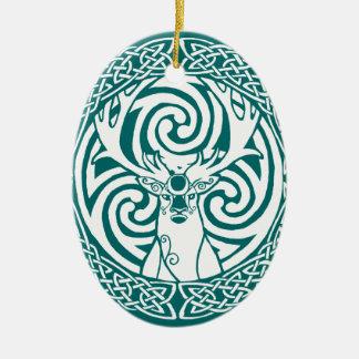 I am a Stag: Snow Ceramic Ornament