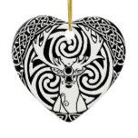 I am a Stag: Snow & Jet Ceramic Ornament