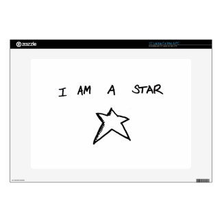 """I AM A STAR 15"""" Laptop For Mac & PC Skin Decals For Laptops"""